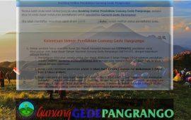 Simaksi Gunung Gede Pangrango: Cara Booking Pendaftaran Online -Tutorial Lengkap